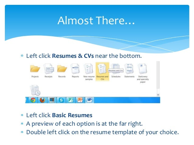 Creating A Resume Using Microsoft Word