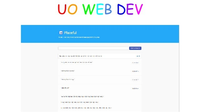 UO WEB DEV