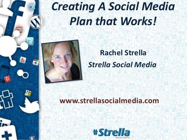 Creating A Social Media   Plan that Works!           Rachel Strella        Strella Social Media www.strellasocialmedia.com