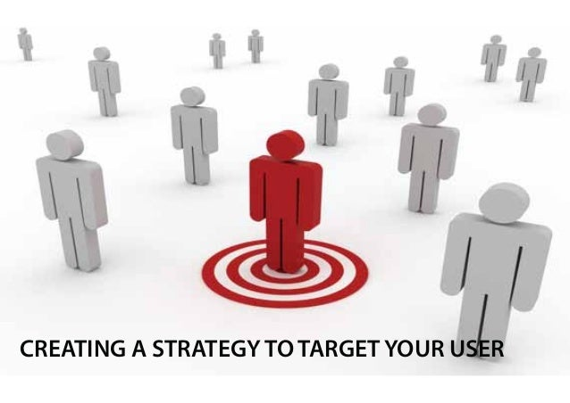 CREATING A STRATEGY TO TARGET YOUR USER