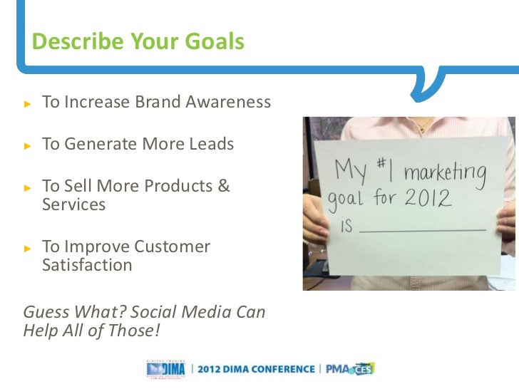 Describe Your Goals►   To Increase Brand Awareness►   To Generate More Leads►   To Sell More Products &    Services►   To ...