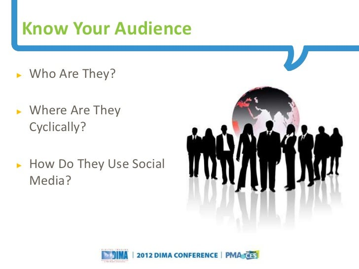 Know Your Audience►   Who Are They?►   Where Are They    Cyclically?►   How Do They Use Social    Media?                  ...