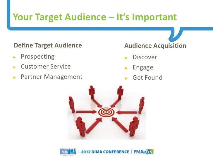 Your Target Audience – It's ImportantDefine Target Audience                                                    Audience Ac...