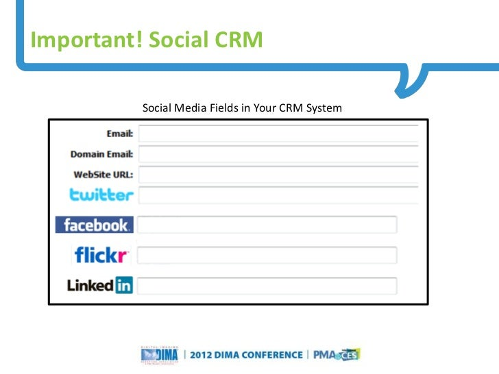 Important! Social CRM             Social Media Fields in Your CRM System                                                  ...