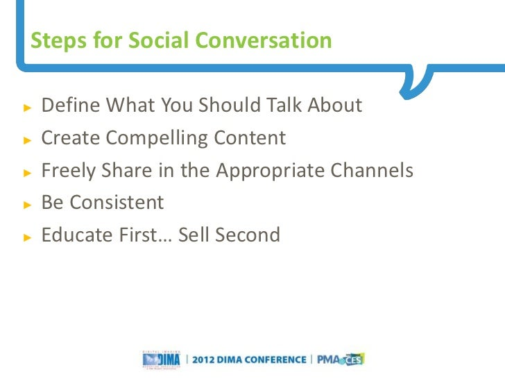 Steps for Social Conversation►   Define What You Should Talk About►   Create Compelling Content►   Freely Share in the App...