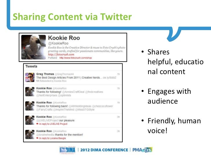 Sharing Content via Twitter                                                                     • Shares                  ...