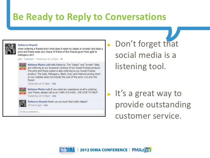 Be Ready to Reply to Conversations                                                               ►     Don't forget that  ...