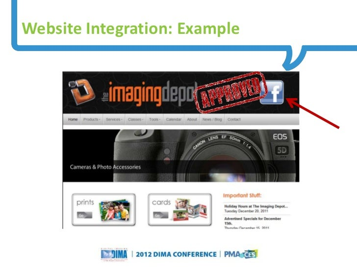Website Integration: Example                                                                     Questions or Comments?   ...