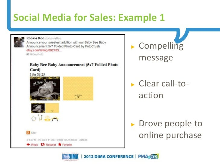 Social Media for Sales: Example 1                                                                     ►   Compelling      ...