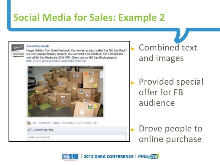 Social Media for Sales: Example 2                                                                     ►   Combined text   ...