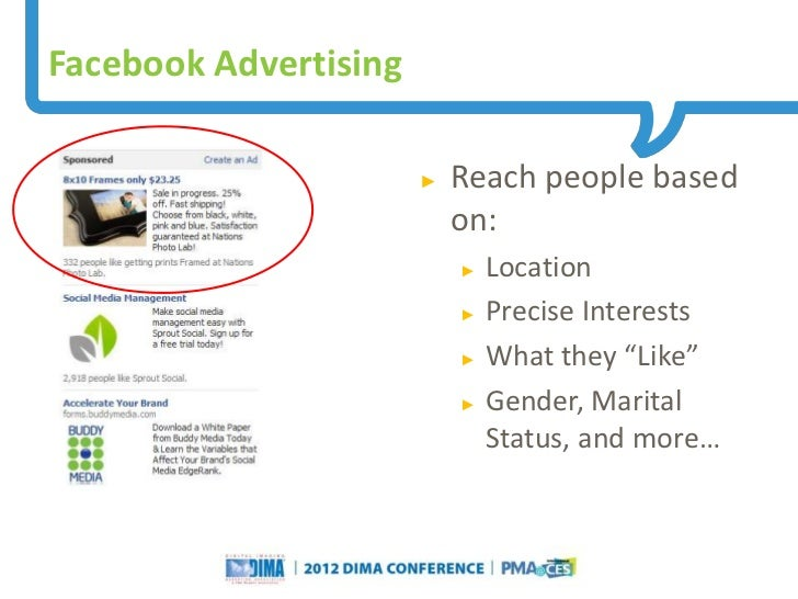 Facebook Advertising                                                                     ►   Reach people based           ...