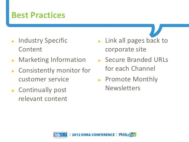Best Practices►   Industry Specific                                                 ►   Link all pages back to    Content ...