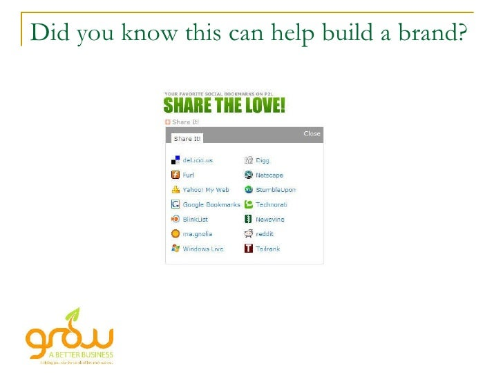 Did you know this can help build a brand?