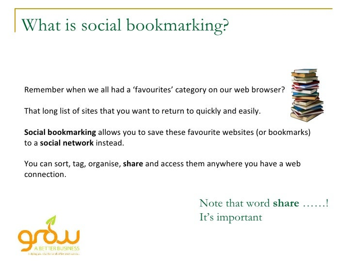 What is social bookmarking? Remember when we all had a 'favourites' category on our web browser? That long list of sites t...