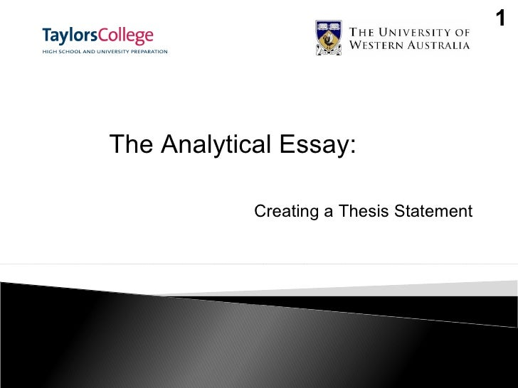 creating statement thesis In writing a good thesis statement one should be extremely sure about what he/she is writing about and why a thesis statement is an account that explicitly.