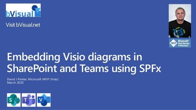 Visit bVisual.net Embedding Visio diagrams in SharePoint and Teams using SPFx David J Parker, Microsoft MVP (Visio) March ...