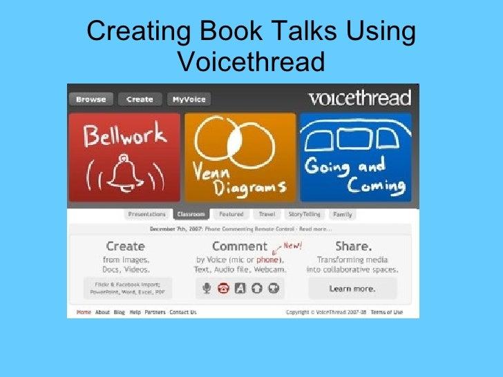 Creating Book Talks Using Voicethread