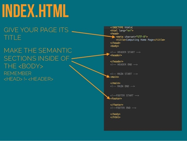 Creating a Webpage from a Template