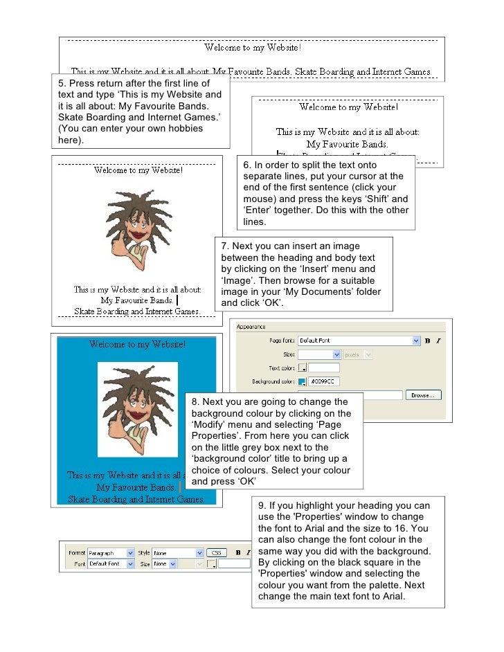 how to create a website using dreamweaver