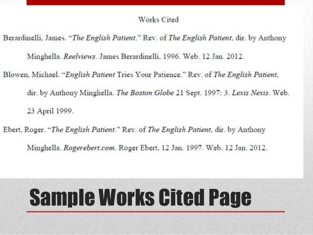 English homework help works cited