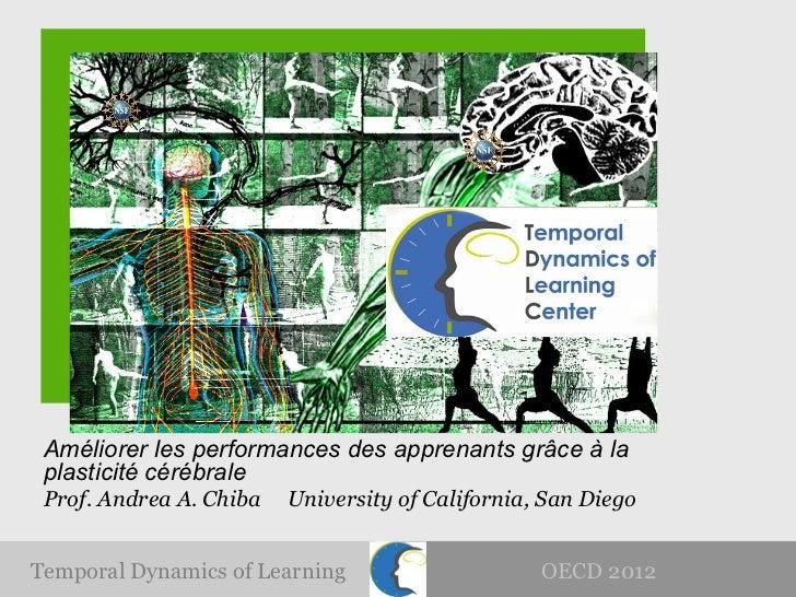 Améliorer les performances des apprenants grâce à la plasticité cérébrale Prof. Andrea A. Chiba   University of California...