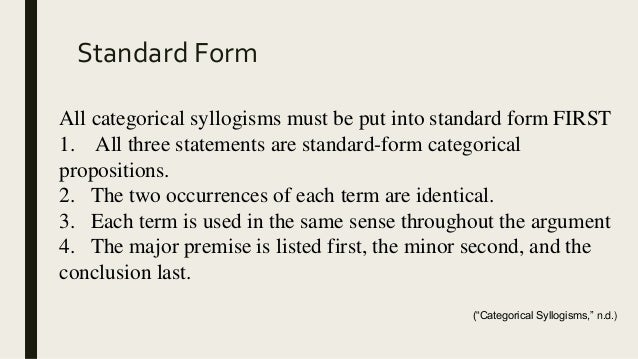 Creating Categorical Syllogisms