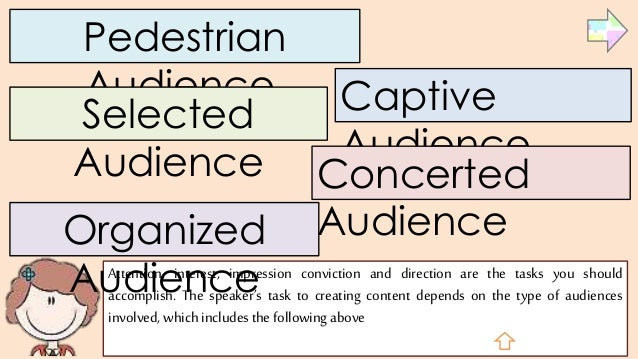 types of audiences for speeches