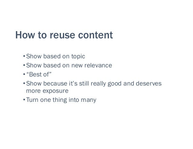 Creating Content for Impact and Value