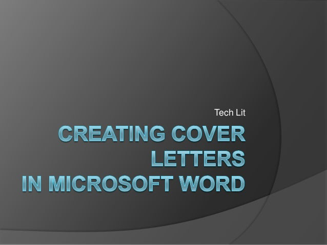 Creating cover letters in microsoft word 2007 spiritdancerdesigns Images