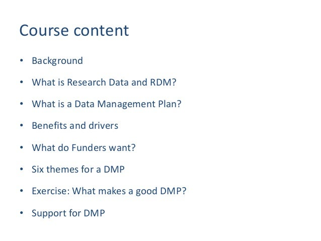 Creating a Data Management Plan for your Grant Application Slide 2