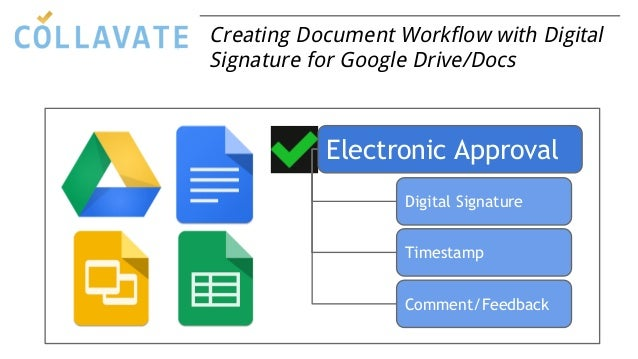 Creating Document Workflow with Digital Signature for Google Drive/Docs Electronic Approval Digital Signature Timestamp Co...