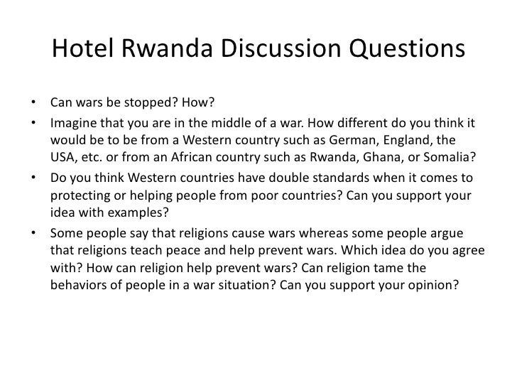 discussion questions about the rwandan genocide