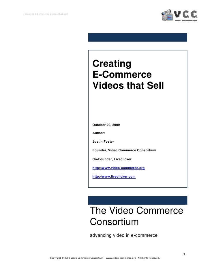 CreatingE‐CommerceVideosthatSell                                                            Creating                 ...