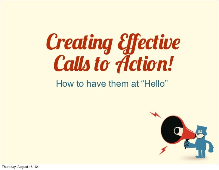 """Cr!""""#$%& Eff!(#$v!                           C""""))* #+ A(#$+%!                           How to have them at """"Hello""""Thursday..."""