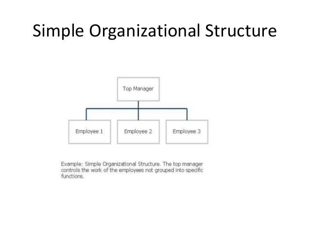 simple structure 5 simple organizational