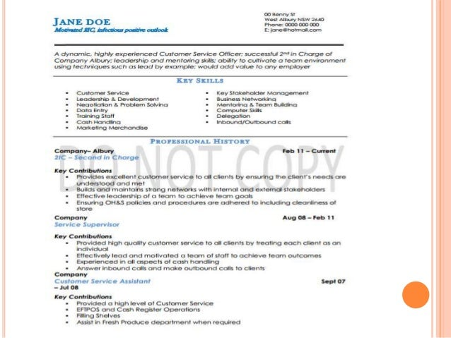 creating effective resumes