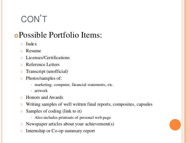 resume binder portfolio