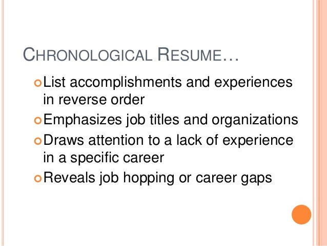 resume list of accomplishments