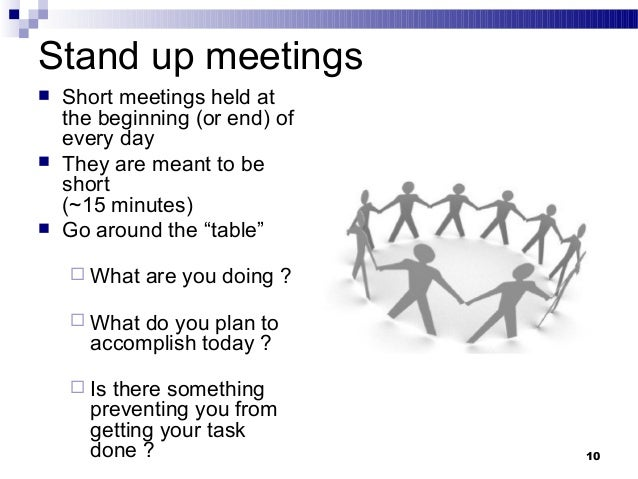 Creating effective teams ppt for Stand up meeting minutes template