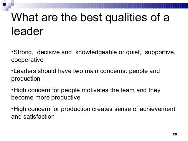 what are the qualities of a good team leader
