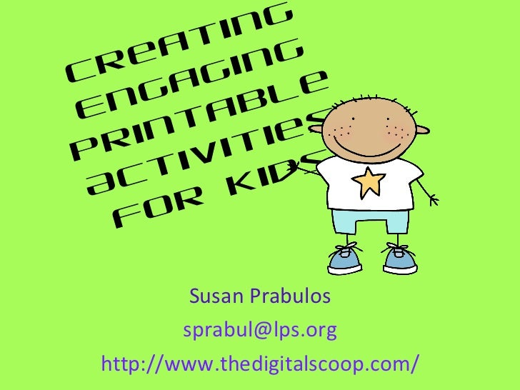 Creating engaging activities