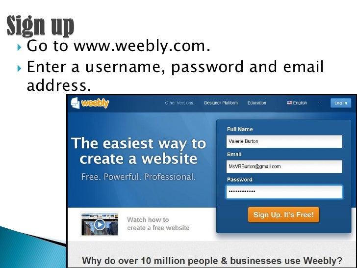 Creating e portfolios using Weebly 4 classroom 20