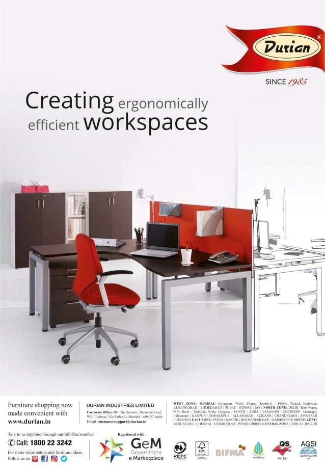 Creating Ergonomically Efficient Workes Durian Rh Slideshare Net Office Furniture Catalogue Pdf