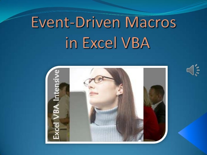 Most peoples first introduction to Excelmacros is through the use of therecorder facility which generates aVBA macro that ...