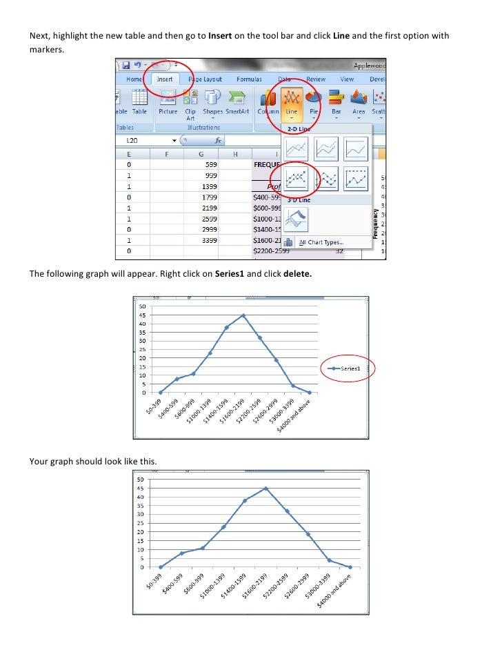 how to draw cumulative frequency graph using excel
