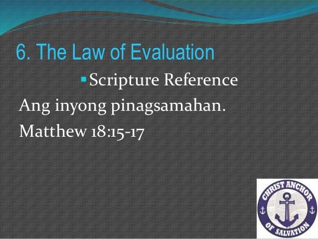 """7. The Law of Proactivity """"Ngunit salamat sa Diyos, kayong dating mga alipin sa kasalan, hindi kayo saklaw ng katuwiran."""" ..."""
