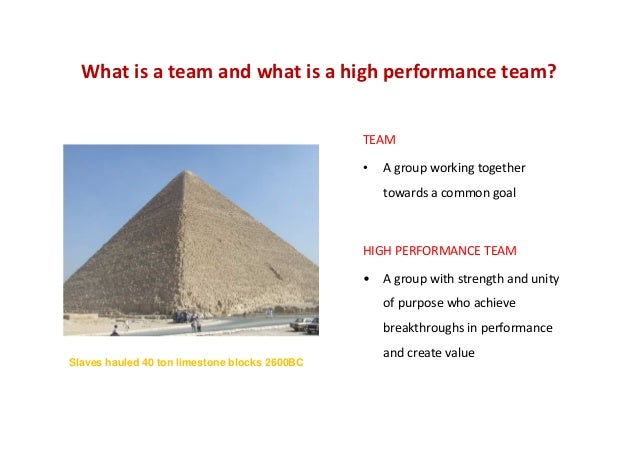 Developing High Performing Teams