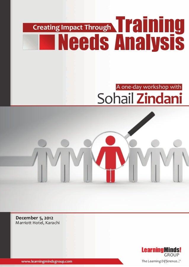 Training         Creating Impact Through                     Needs Analysis                                   A one-day wo...