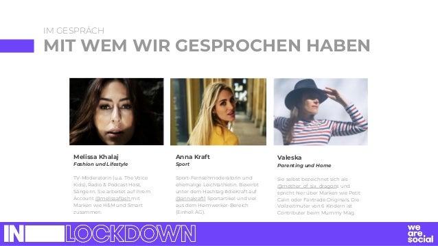 IM GESPRÄCH MIT WEM WIR GESPROCHEN HABEN Melissa Khalaj Fashion und Lifestyle TV-Moderatorin (u.a. The Voice Kids), Radio ...