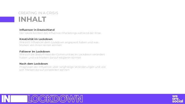 Influencer in Deutschland Der lokale Kontext des Influencer-Marketings während der Krise Kreativität im Lockdown Wie sich In...